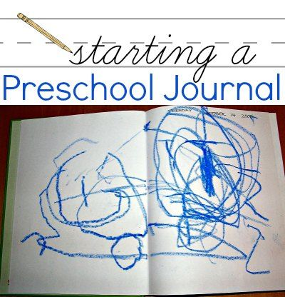 Start a journal with your preschooler for early literacy and fine motor practice.