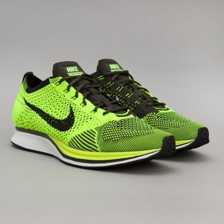 Nike Flyknit Racer in Volt / Black I own these