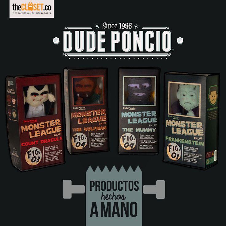 Eres coleccionista? En TheCloset.co tenemos los Monster League con la marca Dude Poncio, encuentra cuadros y objetos de colección en http://thecloset.co/dude-poncio