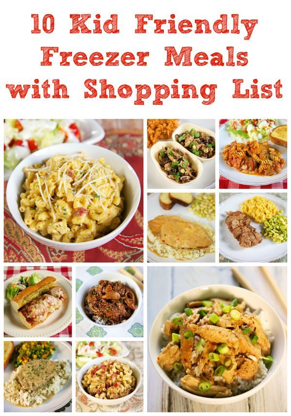 10 Kid Friendly Freezer Meals With Shopping List Slow Cooker Freezer Meals Meals Frozen Meals