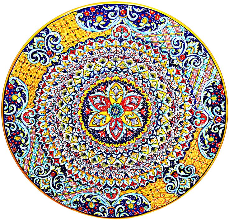Ceramic Majolica Plate G06 Ricco Deruta Red Yellow 52cm - See more at: http://italian-ceramics-art.com/elegant-dishes-gifts/Ceramic-Majolica-Plate-G06-Ricco-Deruta-Red-Yellow-52cm.html#sthash.XSPFBEIo.dpuf