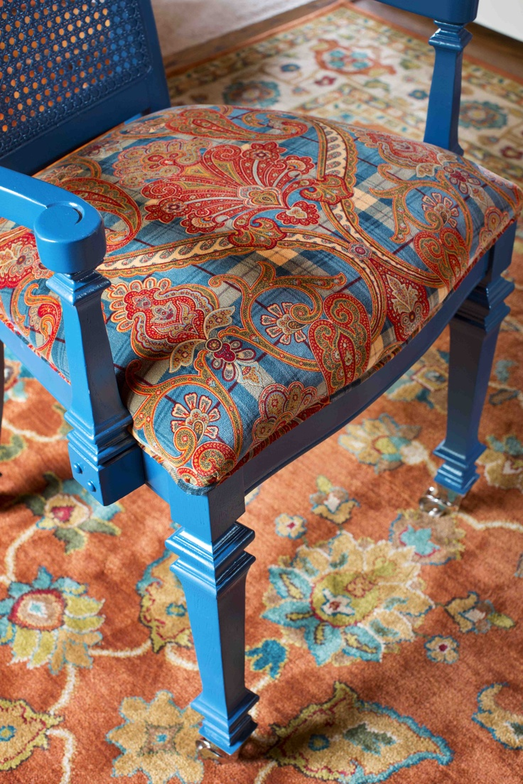 $20 Craigslist chair updated with a sprayed coat of teal ...
