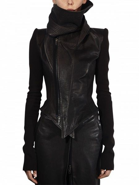 blacks on blacks on blacks is also a favorite. Especially with a jacket like this, those angles!