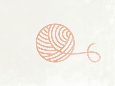Simple shapes: ball of wool.