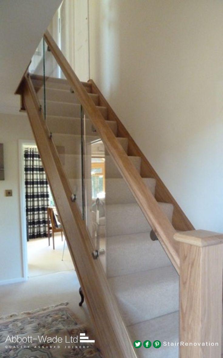 Abbott-Wade inline Oak & Glass staircase