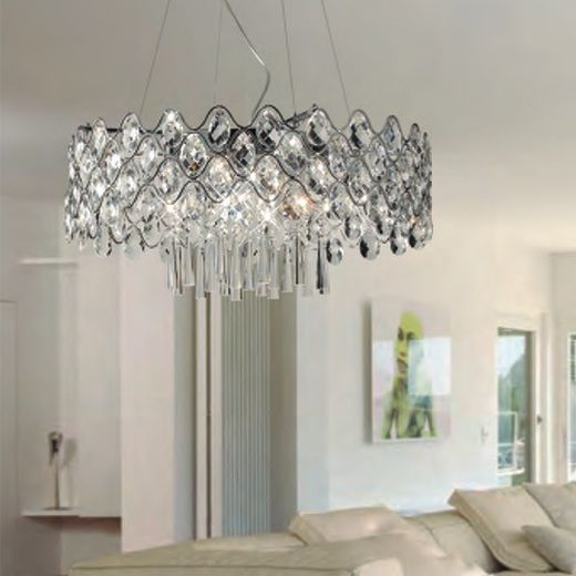 Jojo Crystal Chandelier Pendant Light from £534.95 & crystal pendant lights uk | Roselawnlutheran azcodes.com