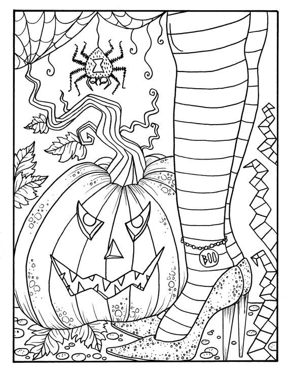 Witchy Feet Pdf Coloring Page Halloween Coloring Fun Etsy Witch Coloring Pages Halloween Coloring Free Halloween Coloring Pages