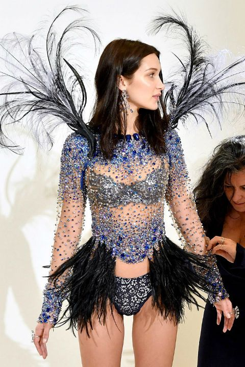 "bel-hadid: """"Bella Hadid at her Victoria's Secret Fashion Show fittings "" """