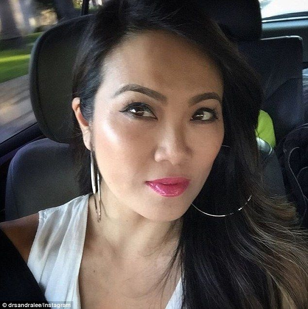 Free time: The dermatologist, pictured in a selfie posted on her Instagram account, is now well-known among the pimple popping community on Reddit