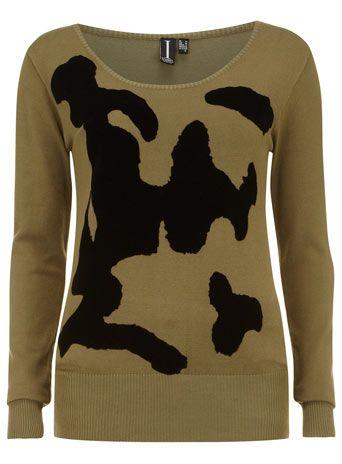 Khaki camouflage jumper