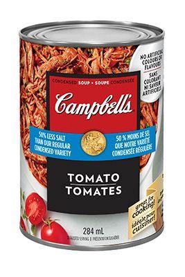 soupe condensée Tomates 25 % moins de sodium, de CAMPBELL'S®