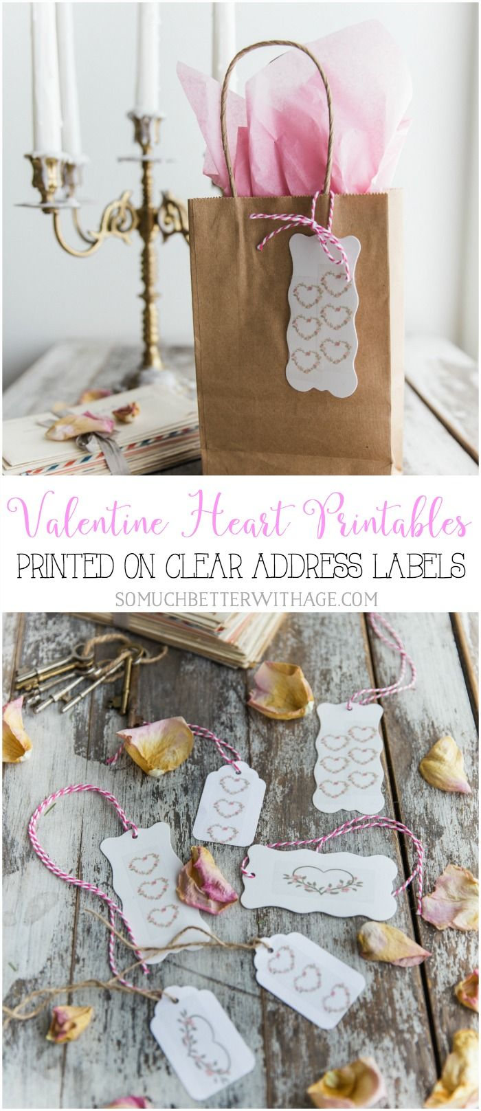 avery address labels wedding invitations%0A Valentine Heart Printables  Printed on Clear Address Labels