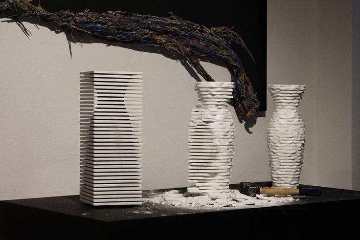 Tecnica de esculpir la piedra en florero personalizado  //  Cactus design introverso marble vase