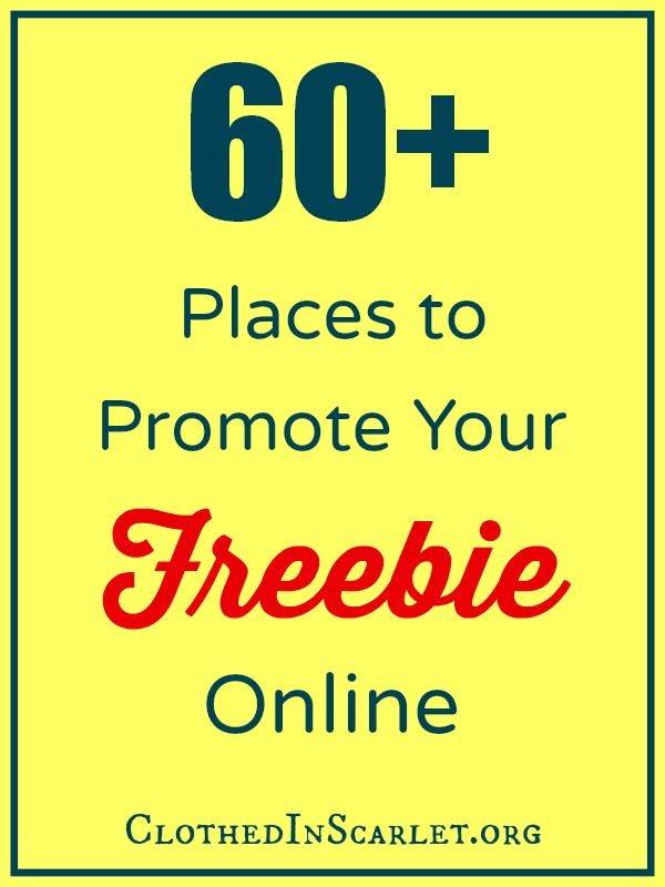 Wondering how to spread the word about your freebie online? Here is a ginormous list of 60+ places to promote your freebie....