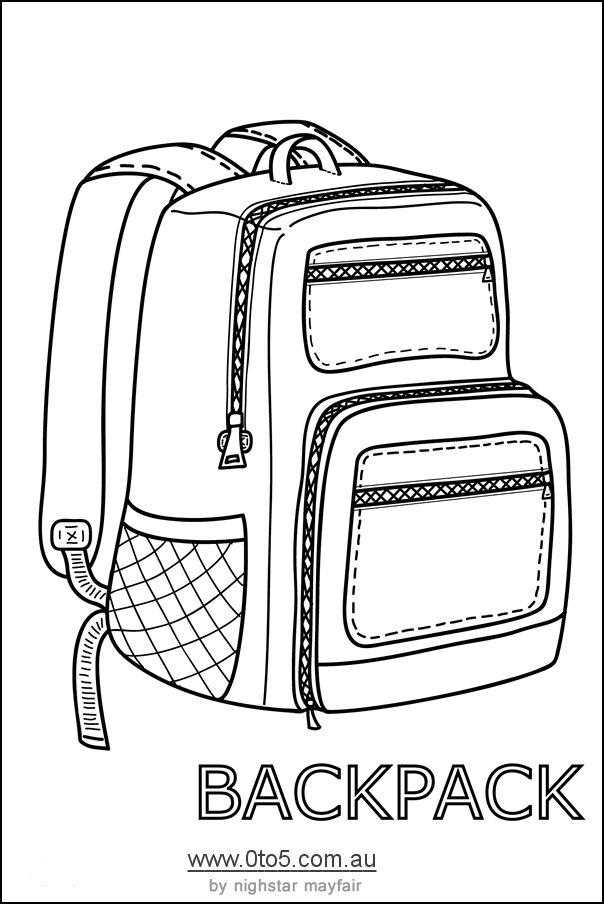 Backpack Or Rucksack Printable Template Rubber Clear