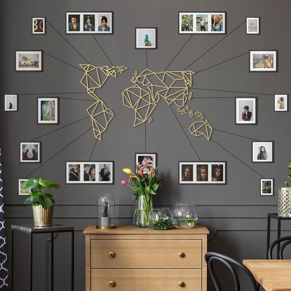 Original Metal World Map Designed By Hoagard Metal Wall Art Thanks To Its Simple Usage World Map Go Arte Da Parede De Arvore Decoracao De Casa Decoracao