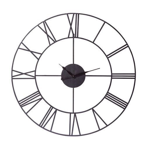 Reloj negro industrial de metal Diám. 107cm SIRIUS