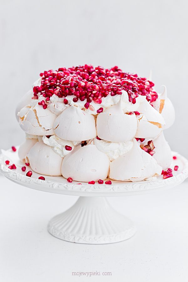 Pavlova meringue cake with grenades                                                                                                                                                                                 More