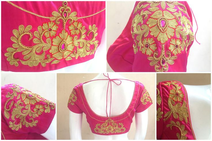 Princess in pink..!!!BLOUSE CODE: B085Kindly inbox/ email us for price details Call us/ Whatsapp/ Viber: 9894614882Email: shrishas.sai@gmail.comShipping worldwideDelivery within 5 working Days  19 November 2016