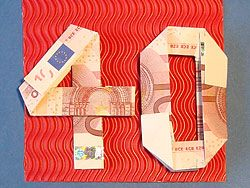 Money gift for 40th birthday Geldgeschenke zum 40. Geburtstag
