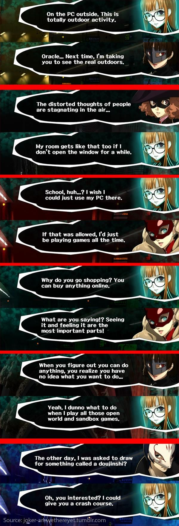 [Persona 5] Futaba Sakura: r/gaming as a JRPG character