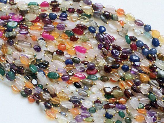 Multi Gemstone Beads Multi Gemstone Plain Oval by gemsforjewels