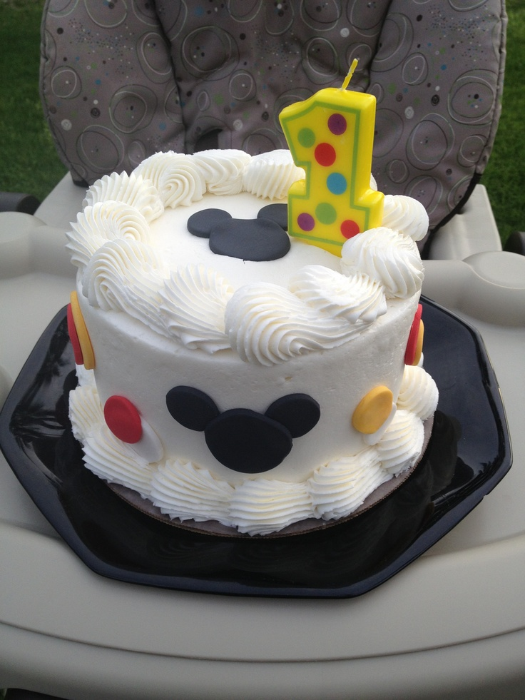 """Mickey Mouse """"Smash Cake"""" for 1st Birthday"""