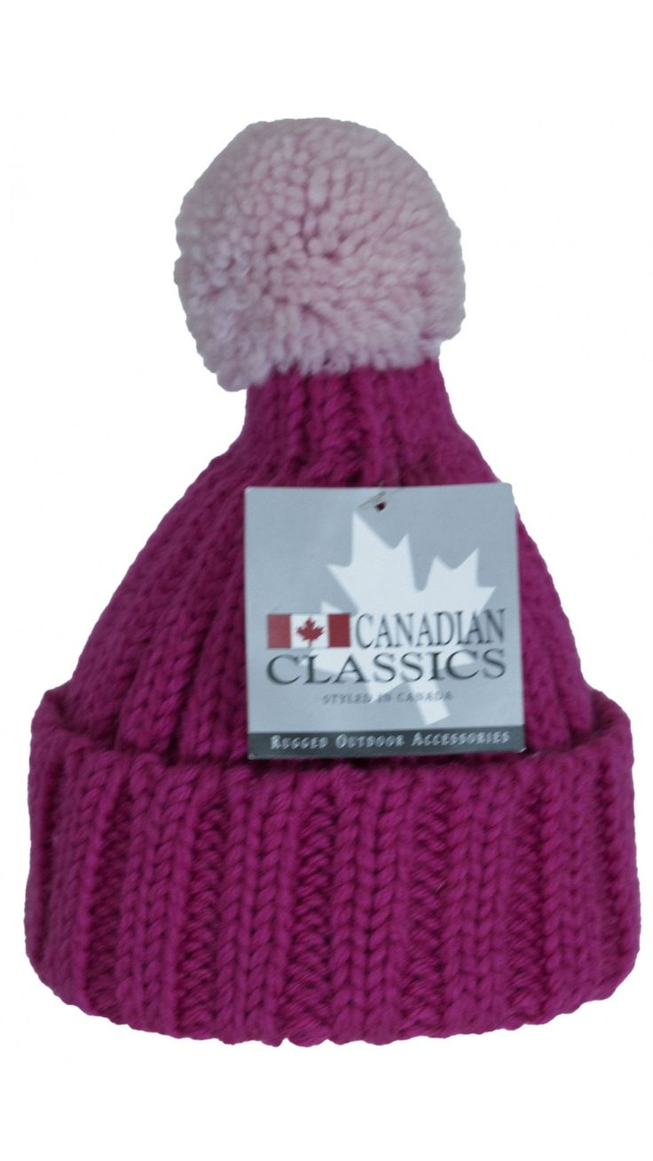 Cappello CANADIAN CLASSICS, in Lana con PonPon. www.fevoutlet.com
