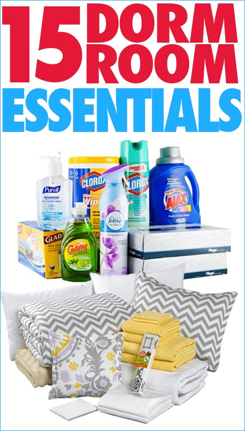 15 Dorm Room Essentials, plus a FREE printable checklist to help you pack for college!