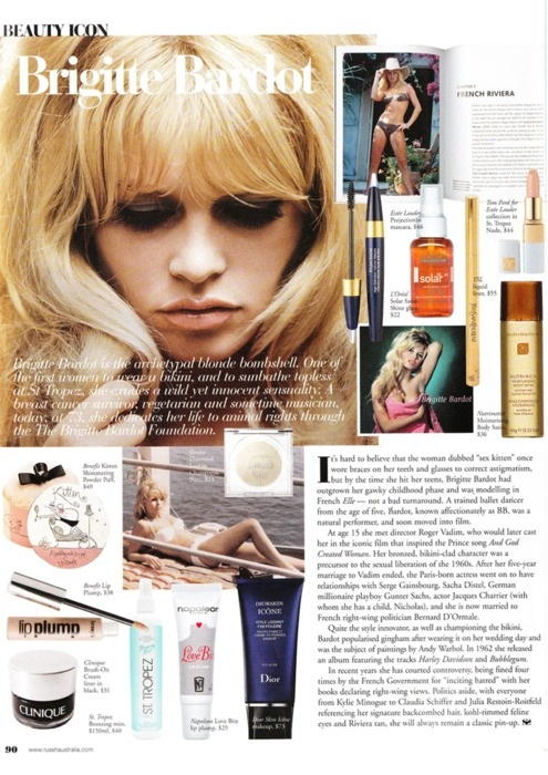 Modern Brigitte Bardot Makeup