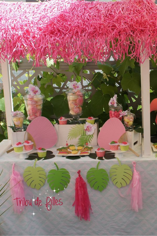 Deco Table Flamant Rose