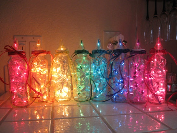 Baby Bottle Bright A Decorative Light For By BabyBottleBrights, $20.00