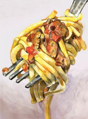 illustration of Watercolor, Food, Food/Beverage