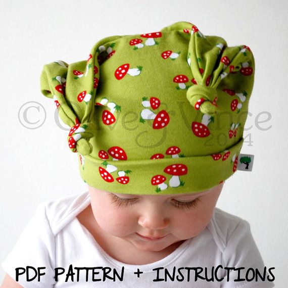 Baby hat instructions pdf pattern childrens stretchy ...