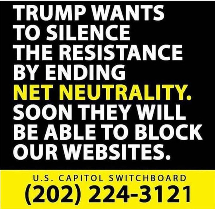Net Neutrality is important!  Call your senators and House representatives today!