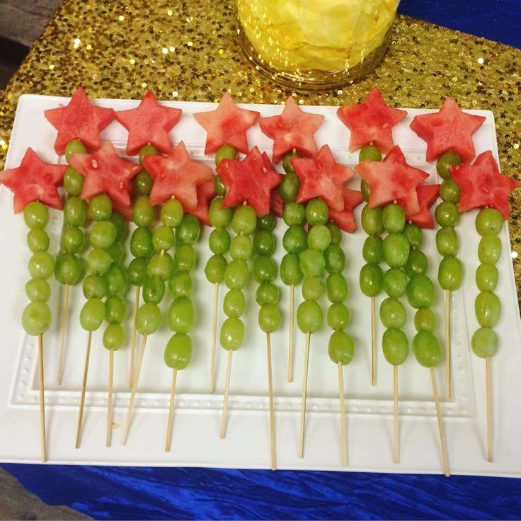 Fruit wands at a Twinkle Little Star birthday party! See more party ideas at CatchMyParty.com!