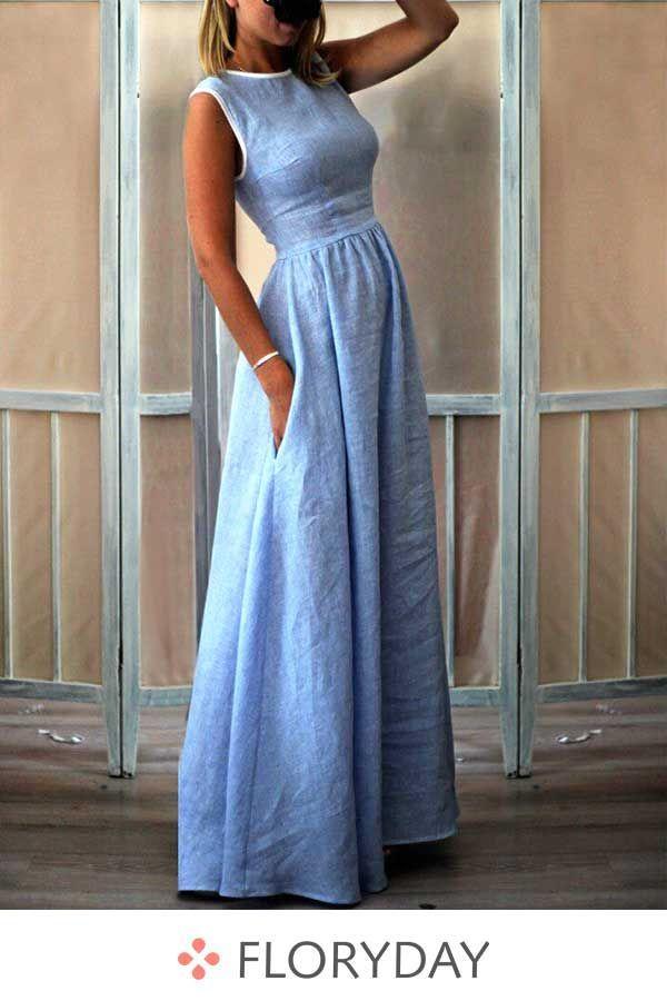 X-Line Maxikleid ohne Ärmel – Dresses
