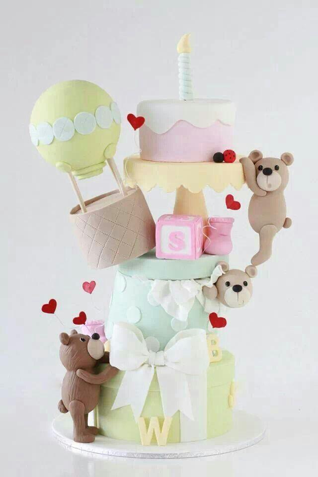 103 Best Bear Cakes Images On Pinterest Baby Shower