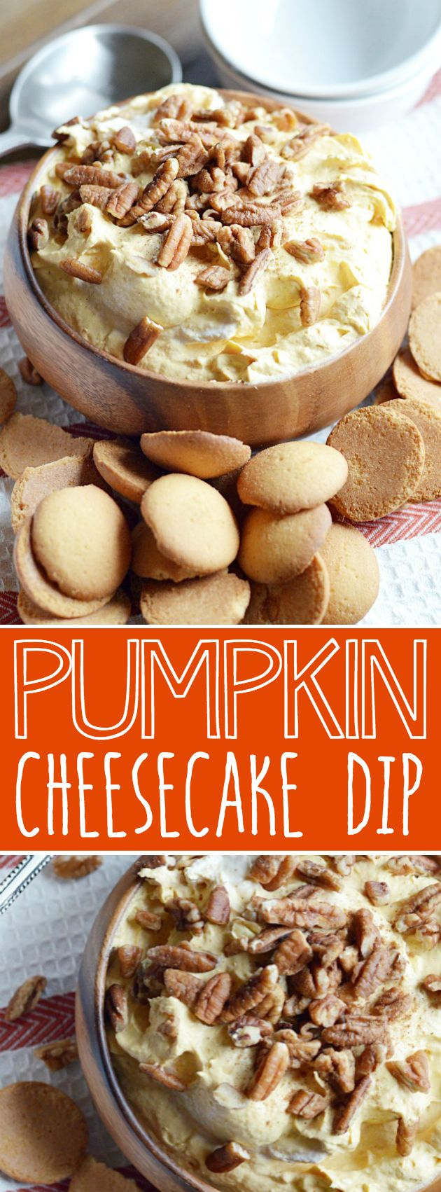 Dreamy, creamy Pumpkin Cheesecake Dip is an easy no-bake recipe to make and always a crowd pleaser. Bursting with Fall time flavors!