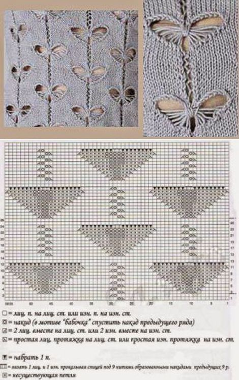 Узор ажурные ромбы спицами схемы и описание. Otvetmam.xyz