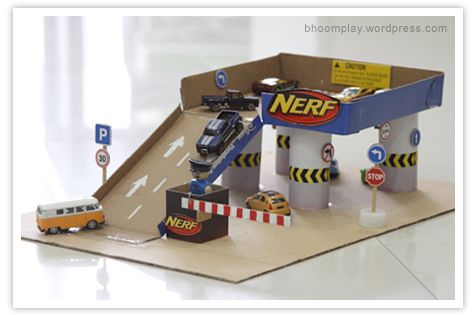 DIY Car Park by bhoomplay #DIY #KIds #Car_Park