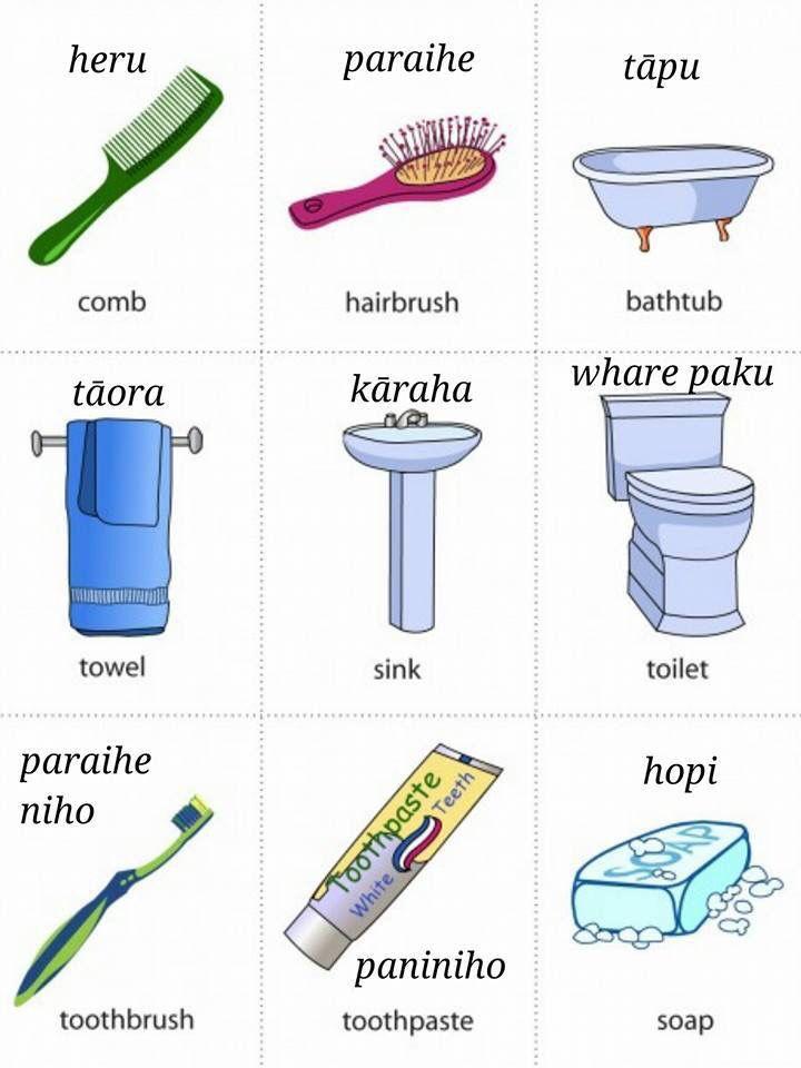Maori vocabulary - Fare pape / Bathroom