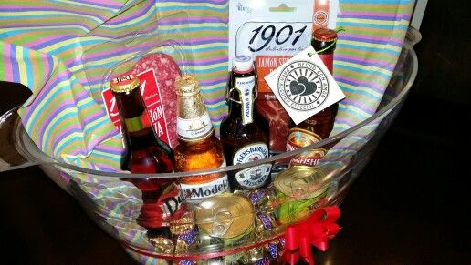 Anniversary basket for him