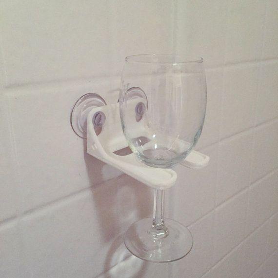 White Bathtub Wine Glass Holder by RedDoorLaserGraphics on Etsy