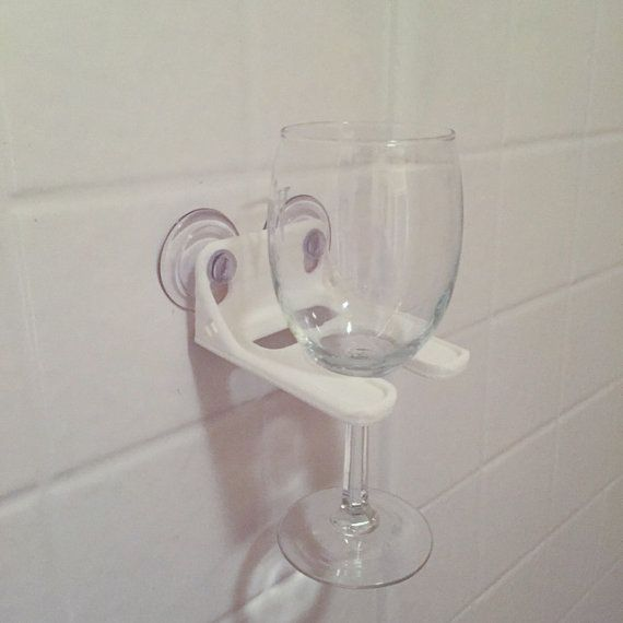 White Bathtub Wine Glass Holder by RedDoorLaserGraphics on Etsy