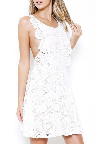 designer floral lace dress for bridal shower wedding guest homecoming