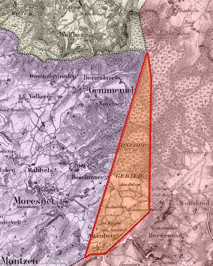 Kaart Moresnet