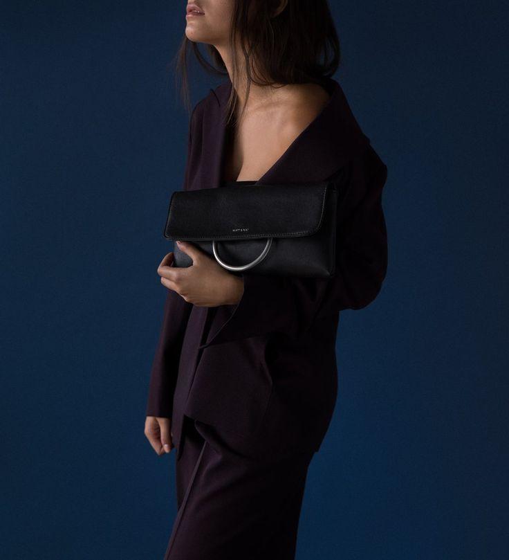 KLASS HANDBAG- Montreal brand Matt &Nat holiday collection. Clutch handbag. 100% Vegan. Shop the bag at forvermlle.com