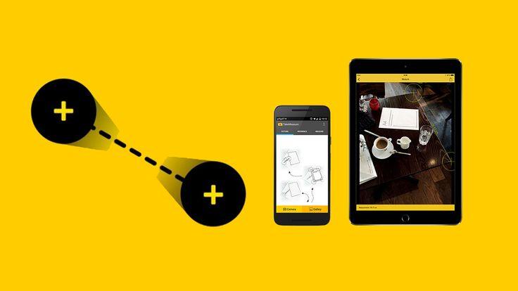 TakeMeasure ile cihazınızdaki kamerayı kullanarak bir fotoğraf üzerindeki tüm nesnelerin boyutunu ölçmenize olanak sağlıyor.