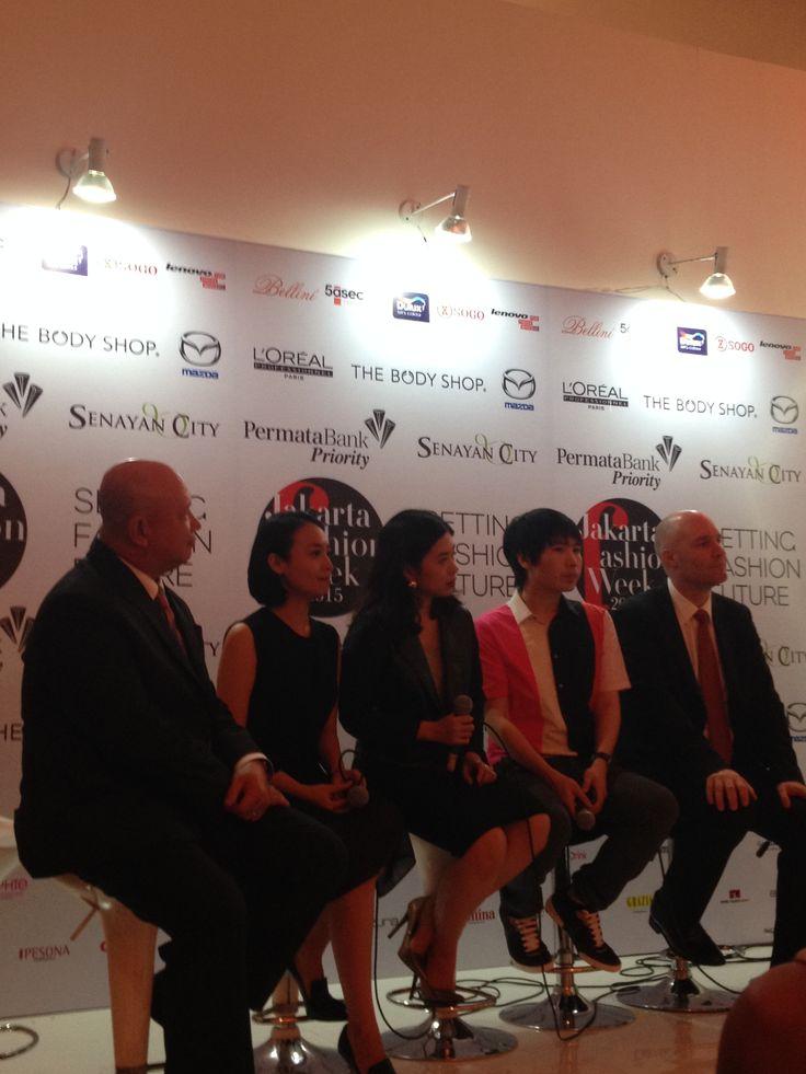 Our founder Prita Widyaputri on press conference for Dulux fashion show at Jakarta Fashion Week 2015.